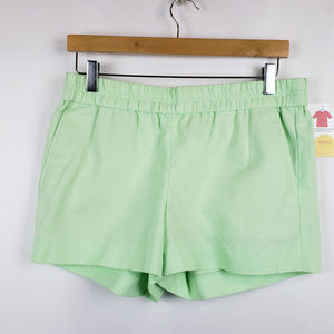 J. Crew Womens Shorts Pull On Elastic Waist Green